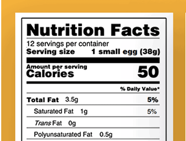 Nutritional panel pdf image